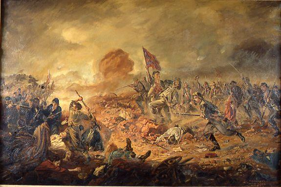 Battle of the Crater Painting