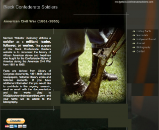Post image for Exploring Black Confederate Websites: Black Confederate Soldiers