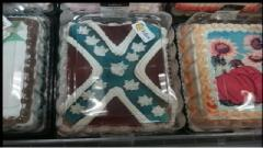 Rebel Confederate Flag Cakes