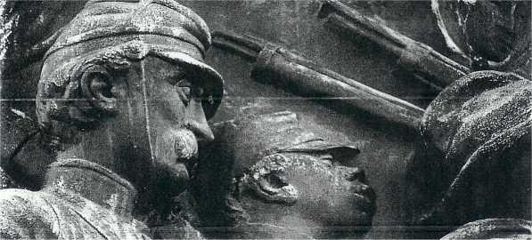 Confederate Monument at Arlington Depicting a Camp Slave