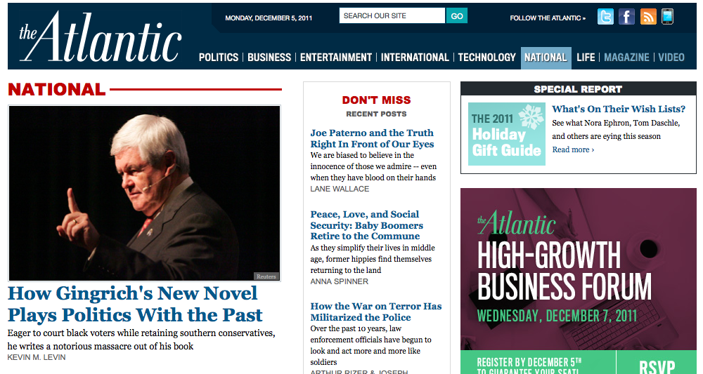 My Review of Newt Gingrich's Crater Novel Published in The Atlantic post image