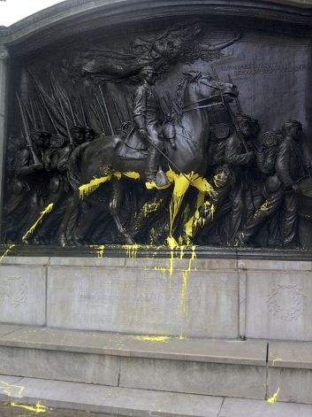 Vandalism at the Shaw Memorial post image