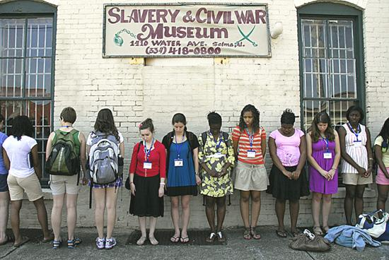 Student Group at Slavery and Civil War Museum in Selma, Alabama (not my school)