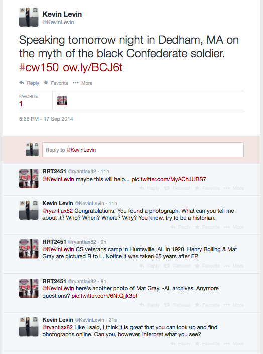 Black Confederate Tweet