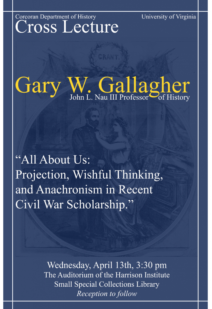 Gary Gallagher Lecture Flyer
