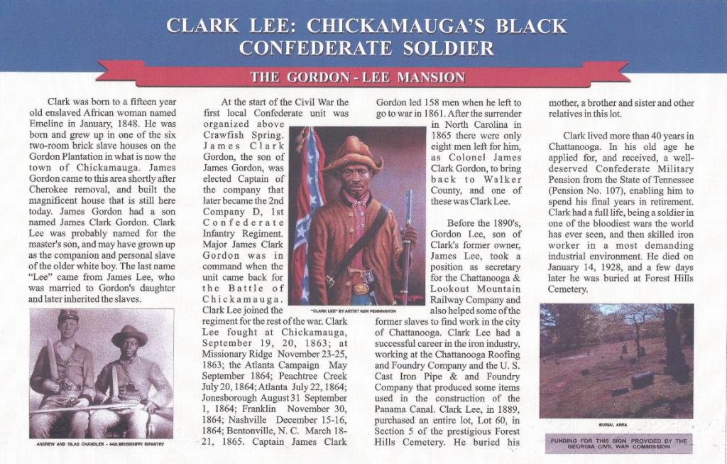 black confederate, clark lee
