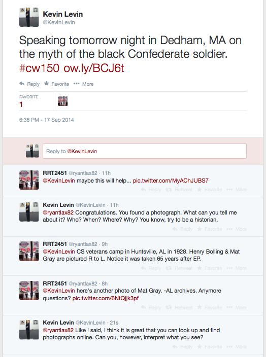 Black Confederate Tweet