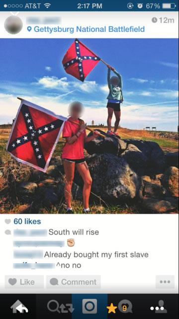 Gettysburg, Confederate flag