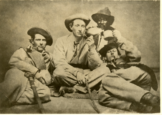 Officers of Company H (Independent Volunteers) of the 57th Georgia Regiment, Army of Tennessee, 1863.